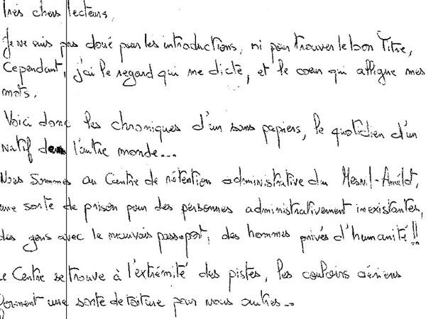 Atef YACOUBI : L'attente – ou la chronique d'un «sans papiers»