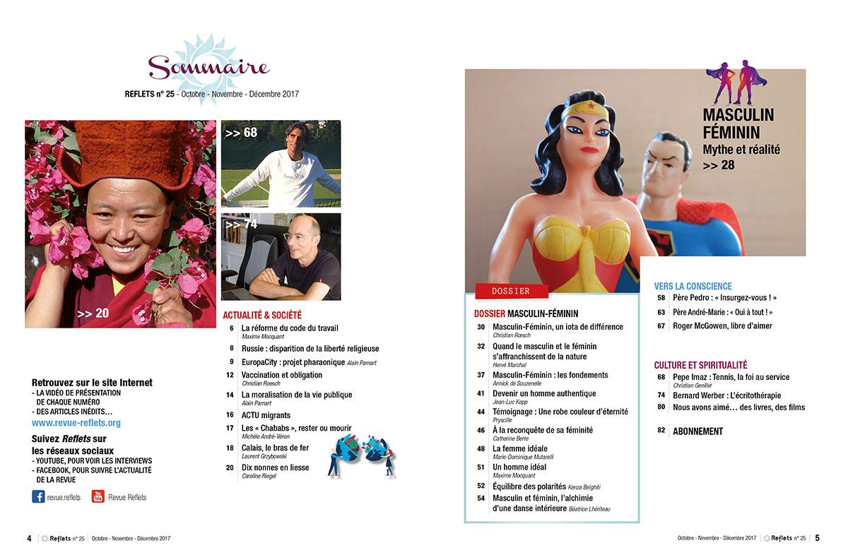 Sommaire Revue Reflets n°25