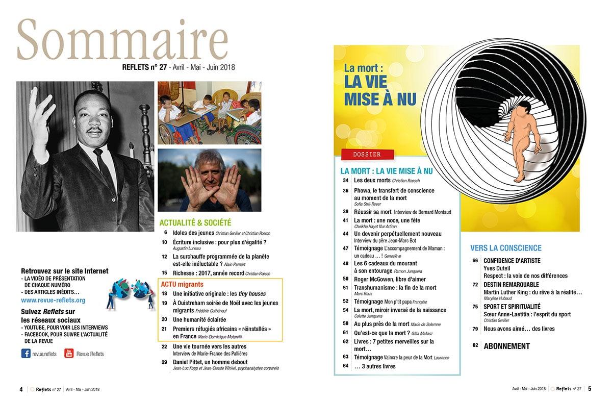 Sommaire Revue Reflets n°27