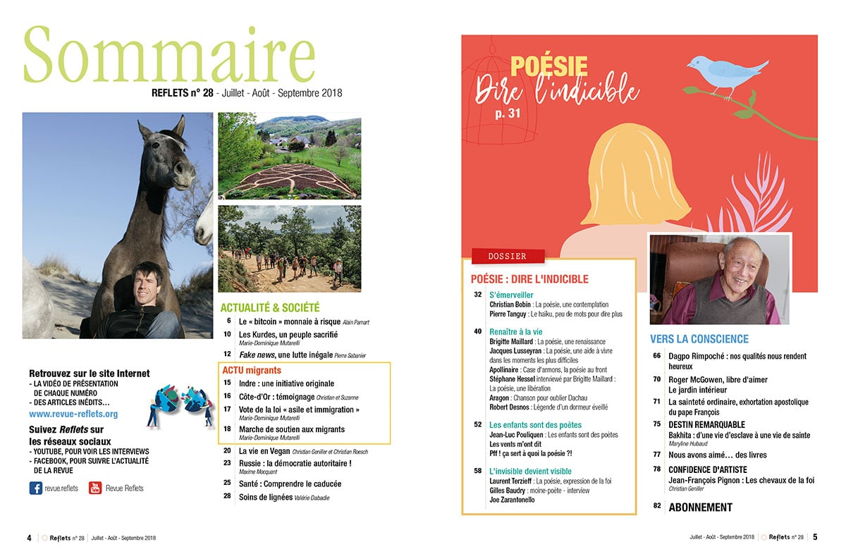 Sommaire Revue Reflets n°28