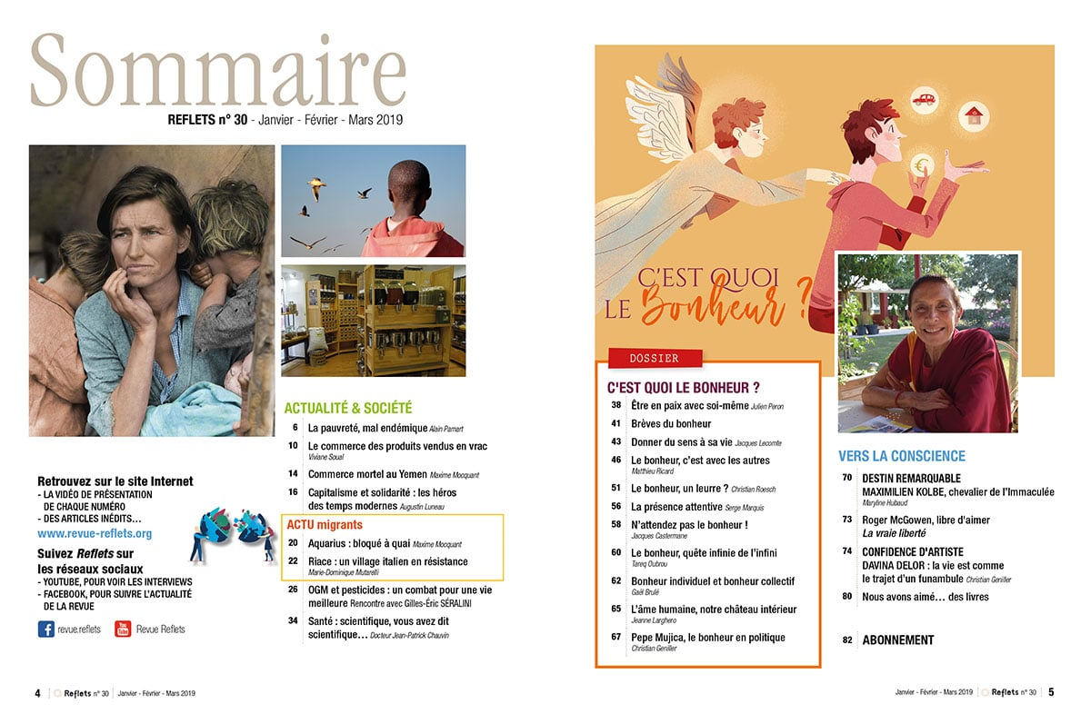 Sommaire Revue Reflets n°30