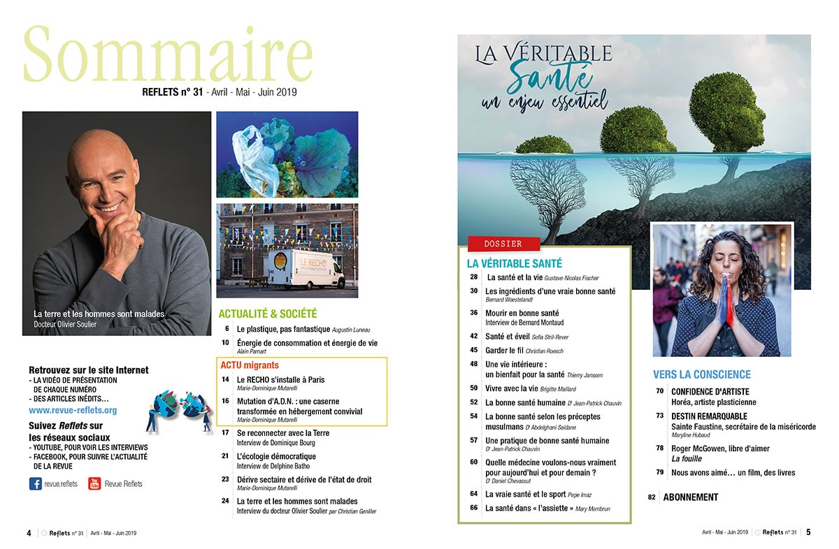 Sommaire Revue Reflets n°31