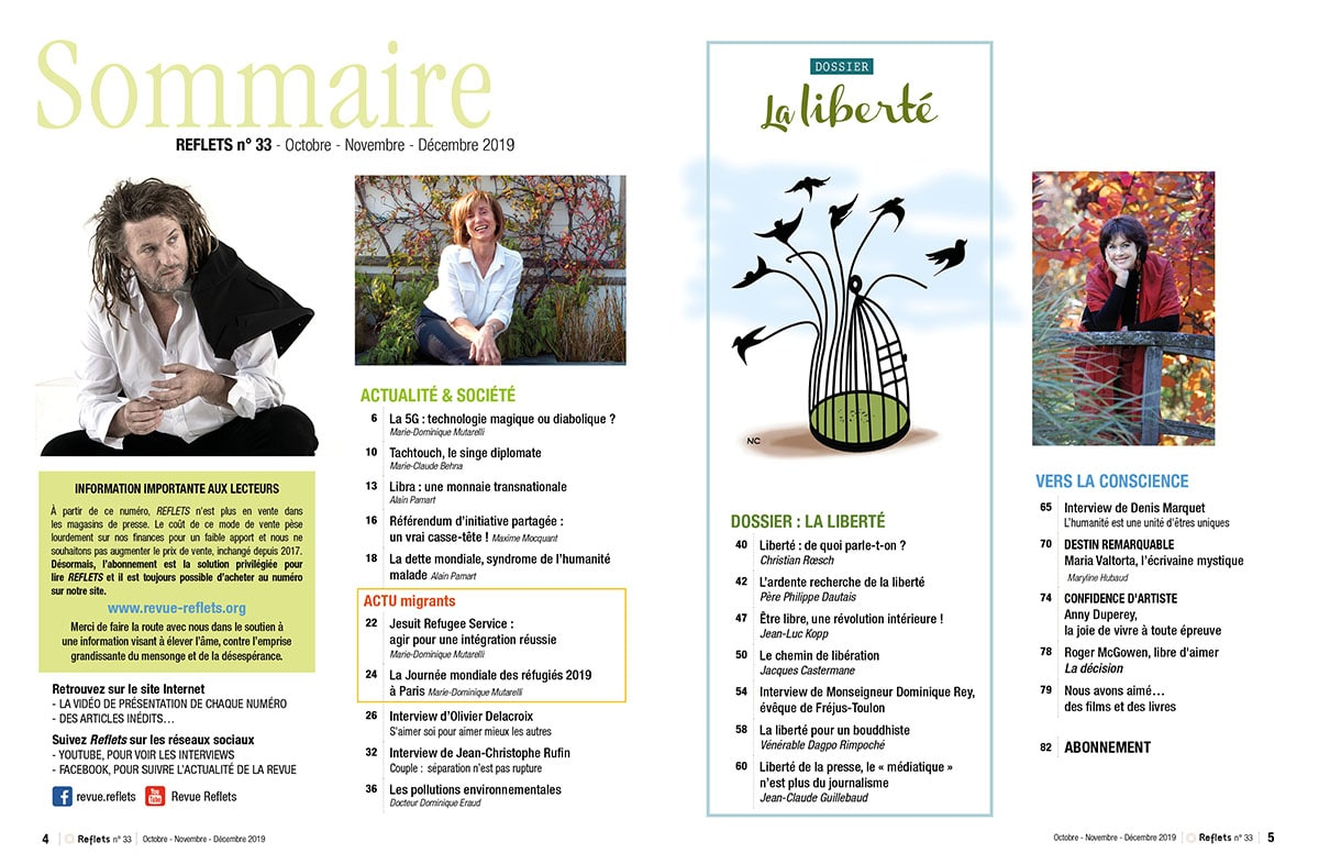 Sommaire Revue Reflets n°33