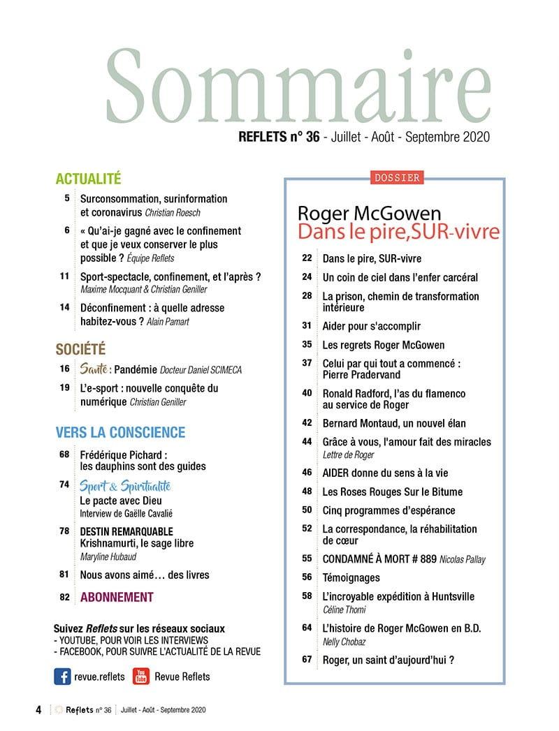 Sommaire Revue Reflets n°36